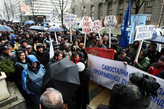 Radnici PKB protestovali protiv izdavanja zemlje u zakup