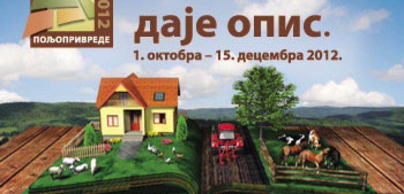 Probni popis poljoprivrede od 12. do 19. juna