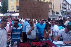 Milan protest južnosrpskih malinara