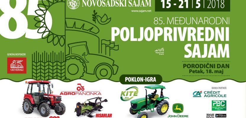 Međunarodni poljoprivredni sajam 85. put u Novom Sadu