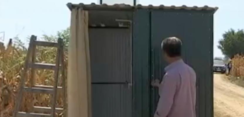 Jagodinski standard, toaleti usred njive