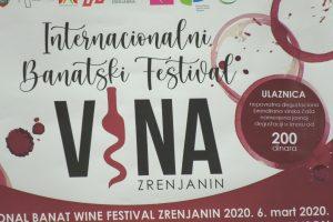 Banatski festival vina početkom marta u Zrenjaninu