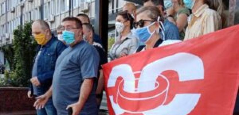 Protest sindikata Sloga ispred Ministarstva poljoprivrede