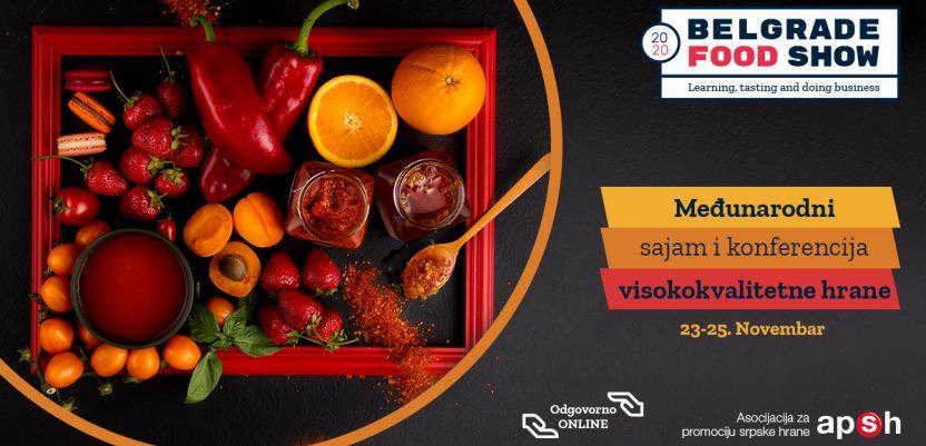 Belgrade Food Show ove godine online od 23. do 25. novembra
