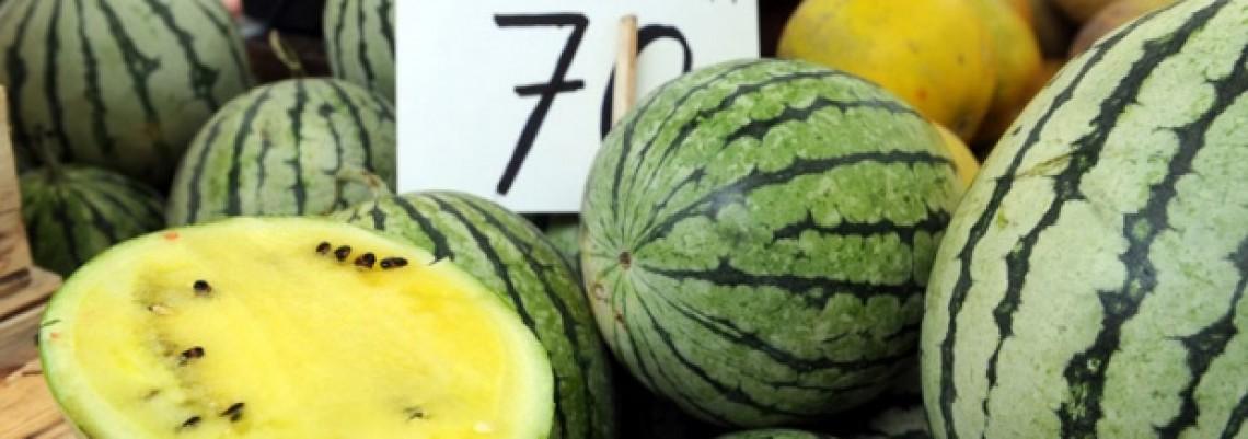 Žute lubenice su hit na pijacama