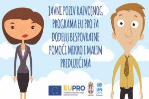 EU PRO – javni poziv za podršku mikro i malim preduzećima